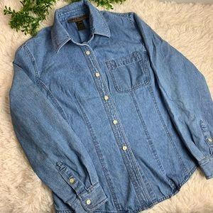 Classic 100% cotton chambray denim shirt